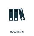 documents icon line style icon design ui vector image