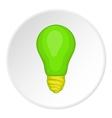Eco light bulb icon cartoon style vector image vector image