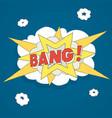 explosion bang comics vector image vector image