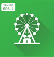 ferris wheel icon business concept carousel in vector image vector image