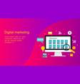 flat design content marketing logo vector image vector image