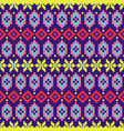 geometric folk seamless pattern colorful pixelated vector image vector image