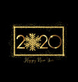 glittery snowflake happy new year background vector image vector image