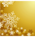 Golden Christmas snowflakes background vector image vector image