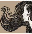Grunge closeup decorative vintage woma vector image