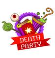 halloween death party logo cartoon style vector image