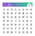 Halloween Line Icons Set vector image vector image