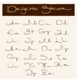 Hand drawn alphabet in arabic style vector image vector image