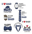 happy father s day greeting card a set of vector image vector image