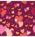 heart sweet love day pattern vector image vector image