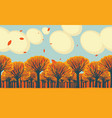 horizontal frieze with yellowed fall trees vector image vector image