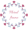 Indian or arabic style floral frame vector image vector image