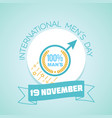 international men s day holiday vector image vector image