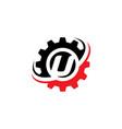 letter u gear logo design template vector image vector image