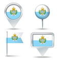 Map pins with flag of San Marino vector image vector image