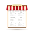 Menu cafe design vector image vector image