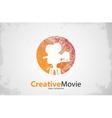 movie logo Creative movie design Camera logo vector image vector image