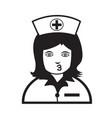 nurse face emotion icon sign design vector image