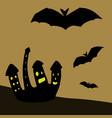 orange card happy halloween vector image