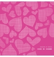 Pink lace hearts textile texture frame corner vector image vector image