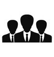 political group icon simple style vector image