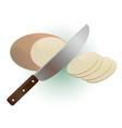 potato cutting vector image