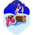 rabbit new year vector image vector image