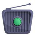 retro radio icon cartoon style vector image vector image