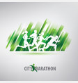 running people silhouettes stylized background vector image