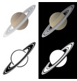 saturn vector image vector image