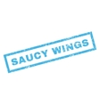 Saucy Wings Rubber Stamp vector image vector image