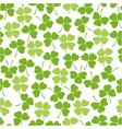 seamless clover background vector image vector image