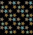 seamless pattern with handdrawn stars bright vector image vector image
