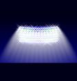 searchlights in the stadium field illuminations vector image
