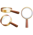 Set magnifying glass vector image vector image