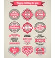 Set of 12 beautiful vintage frames with inscriptio vector image vector image