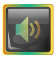 speaker grey icon with colorful details on white vector image vector image
