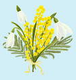 spring floral background with beautiful snowdrops vector image vector image