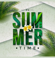 summer time with typography vector image vector image