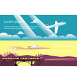 summer travel vacation adventure horizontal vector image