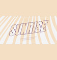 sunrise font bold style for festive summer party vector image