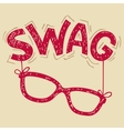 Swag glasses typography vector image vector image