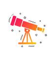 telescope icon spyglass tool symbol vector image