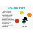 The benefits of citrus fruits for eyesight vector image