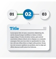 Three steps loading paper Design for infographics vector image