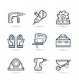 tools for construction icons pack vector image vector image