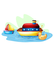 Toys at the pond vector image vector image