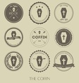 vintage style of coffin business logo vector image