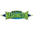 Washington The Evergreen State vector image vector image