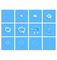 Water drop splash animation frames effect for vector image vector image